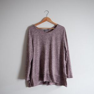 COIN 1804 | HEATHERED PINK SWEATER